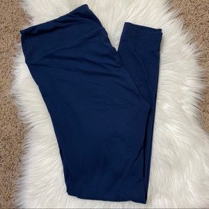 Lularoe tall and curvy solid navy blue leggings